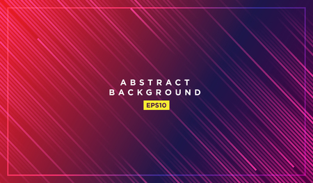 Diagonal stripes vector lines falling with shadow and glowing light illustration. Space and stars on dark blue purple background. Beautiful magic backdrop with text placeholder for your design 矢量图像