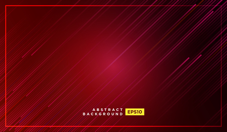 Diagonal stripes vector lines falling with shadow and glowing light illustration. Space and stars on dark red background. Beautiful magic backdrop with text placeholder for your design 矢量图像