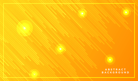 Diagonal stripes vector lines falling with shadow and glowing light illustration. Space and stars on yellow background. Beautiful magic backdrop with text placeholder for your design