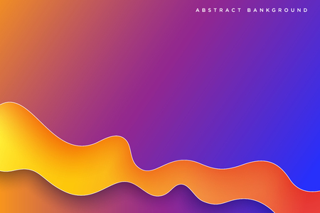 Abstract colorful 3d paper liquid art illustration. Contrast colors. Vector design layout for banners presentations, flyers, posters and invitations. Eps10 - Vector 矢量图像
