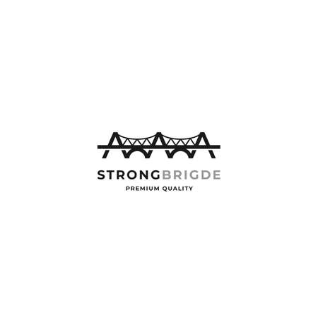 Bridge logo concept with minimalistic negative design style
