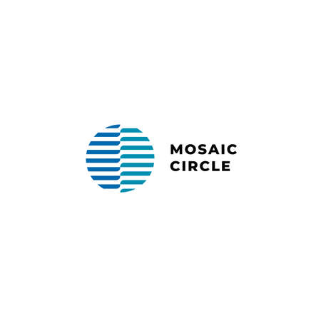 Vector circle abstract wave logo with blue color for digital, energy, water, and technology company