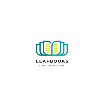 Book nature leaf vector logo template. Suitable for Online Education And Learning Concept