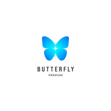 Butterfly hand drawn logo inspiration, spa beauty logo design concept template Ilustrace