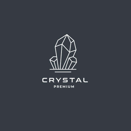 Crystal Gem or Diamond Jewelry logo template. Premium design inspiration