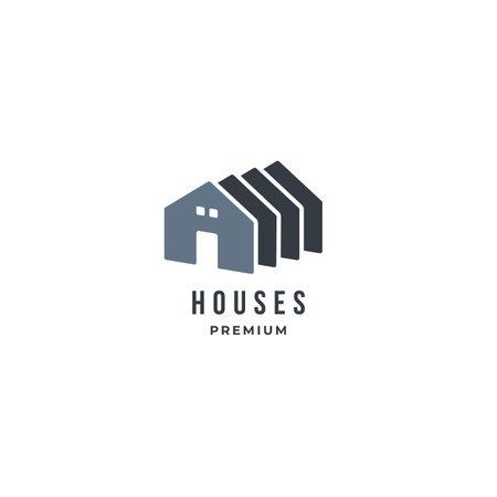 Folding House logo with window. premium vector logo design idea