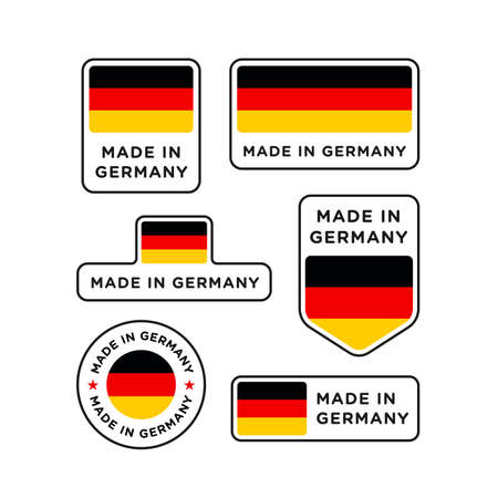 Various made in Germany labels set, German product emblem