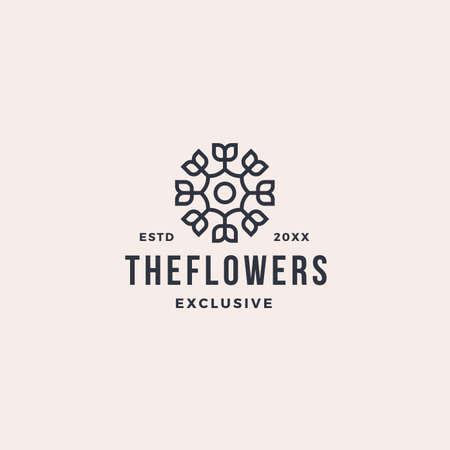 Luxury abstract line leaf flower logo 向量圖像