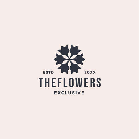 Elegant flower leaf ornament logo icon 向量圖像