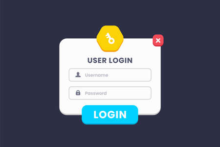 log in, sign in. and sign up user interface design for website and app 向量圖像