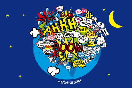 welcome on earth Stock Vector - 6626617