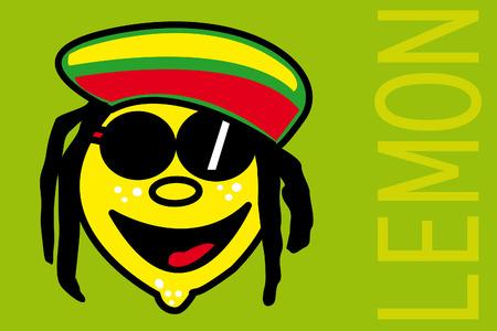 rastafarian lemon Illustration