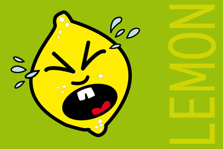 Unfortunate lemon crying Stock Vector - 6626616
