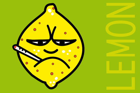 Sick lemon Stock Vector - 6626612