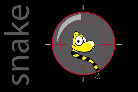 Snake for target Stock Vector - 6626379