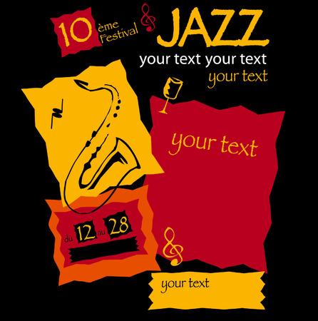 programme: Cartel del espect�culo musical de jazz  Vectores