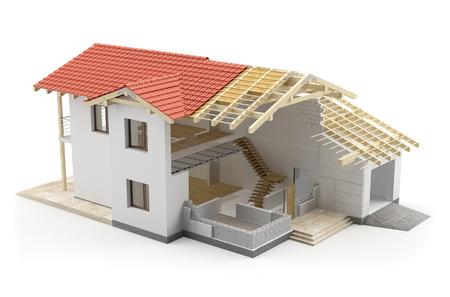 Construction house, 3D illustration