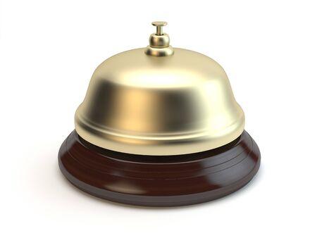 Reception bell, 3D illustration