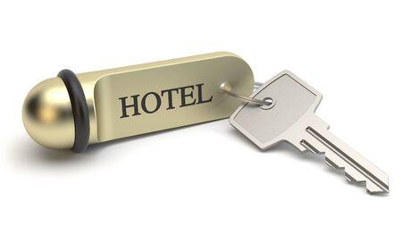 Hotel Room Key, 3D illustration