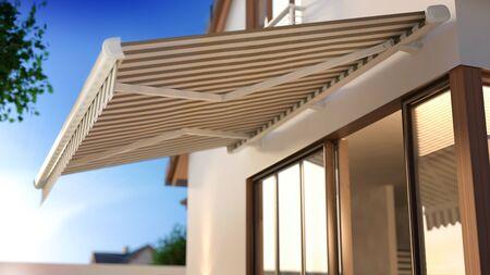 Leinwand-Markise, 3D-Darstellung