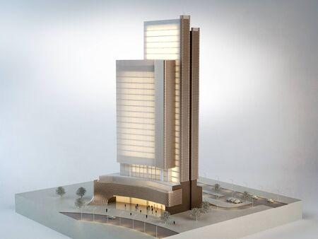 Architectural model, 3D illustration