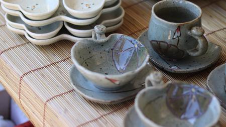 Ceramic cup set.