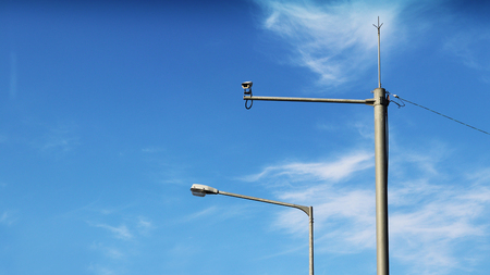 Limited speed monitoring camera and street lamp