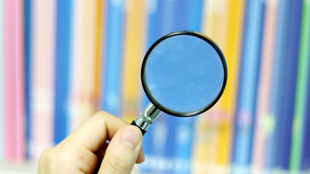 Greatly view objects with magnifying glass.