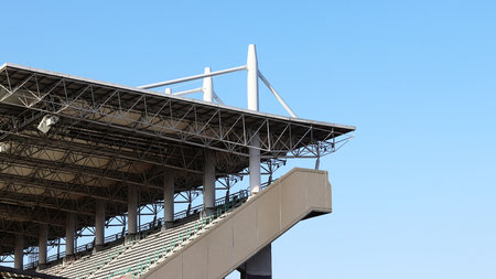 An upstairs grandstand in the stadium.