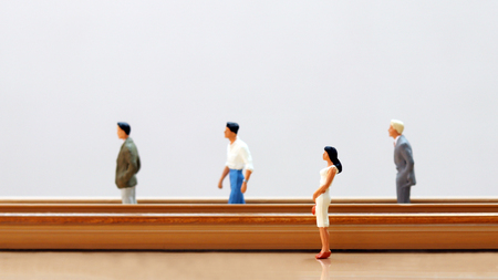 Concept of gender discrimination in the workplace. Stock Photo