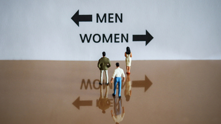 Male and female discrimination. A male and female milestone
