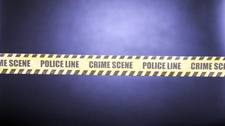 crime scene tape with black background