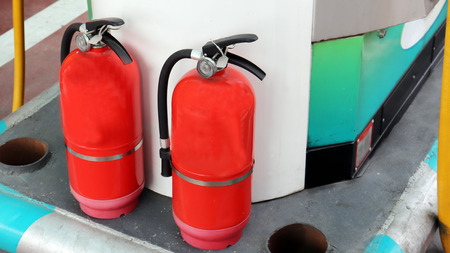Two fire extinguishers are provided to prevent fire.