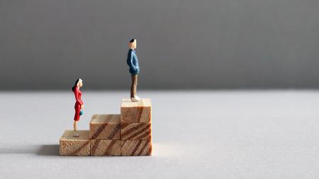 The concept of gender promotion discrimination. Standard-Bild
