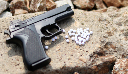 Close-up image of the BB gun. Stock Photo