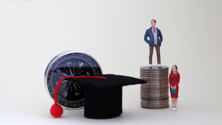 The concept of gender discrimination in the decision to work after graduation.