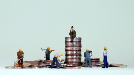 The concept of economic inequality in modern society.