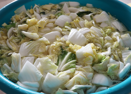 Salted Chinese cabbage.