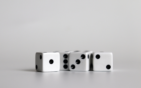 Dice on a white background.