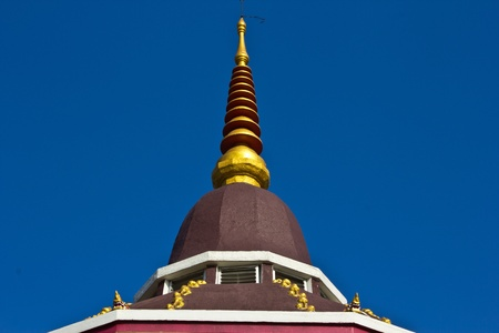 Brown pagoda photo