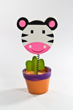 Plant head zebra photo