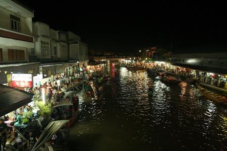 amphawa: floating market,amphawa Editorial
