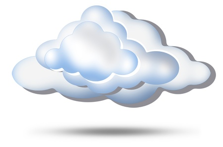 clouds and background white Stock Photo - 10092061