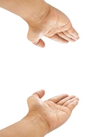 Männer Hand isoliert auf weißem Hintergrund Standard-Bild - 10739640