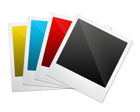 white polaroids: Photo Frames