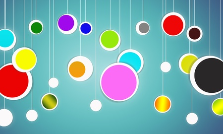 Abstract colorful circle design photo