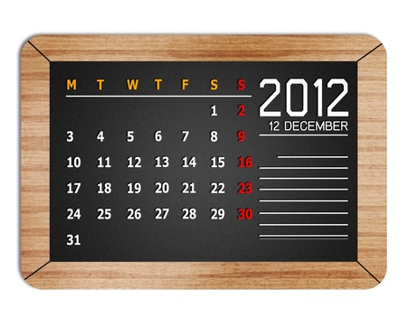 new year calendar 2012 on book background photo