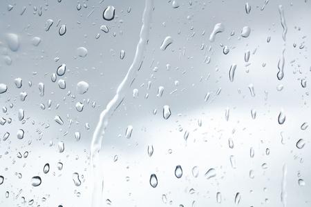 water drops in the rain on the window