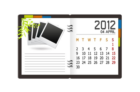new year calendar 2012 on book background  Stock Photo - 11060118