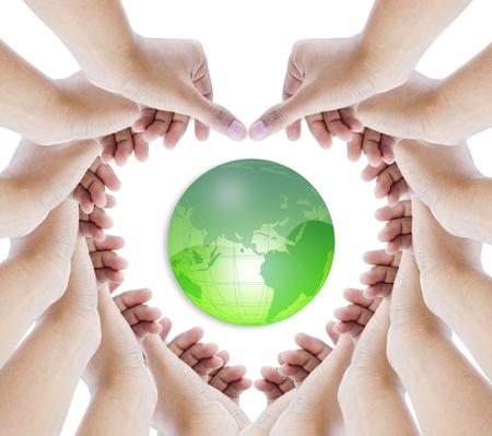 Erde in den Händen macht aa Herz Standard-Bild - 11060170